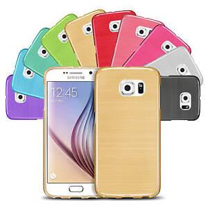 Handy-Huelle-fuer-Samsung-Galaxy-Case-Brushed-Tasche-Cover-Schutzhuelle-Etui-Bumper