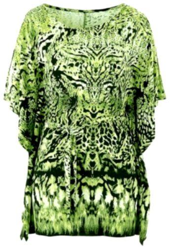 40 42 grün gelb NEU Damen S24 Shirt Oversize Tunikashirt Gr b.p.c