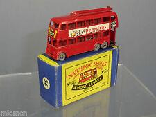 MATCHBOX MOKO LESNEY MODEL No.56a LONDON TROLLEY BUS ' PEARDRAX'    VN MIB