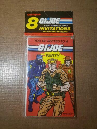 GI JOE PARTY INVITATIONS PACK OF EIGHT 1986 G.I JOE Unique VINTAGE NEW
