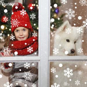 48pcs рождественская Снежинка наклейка украшение для окна зима сделай сам стены двери поставки