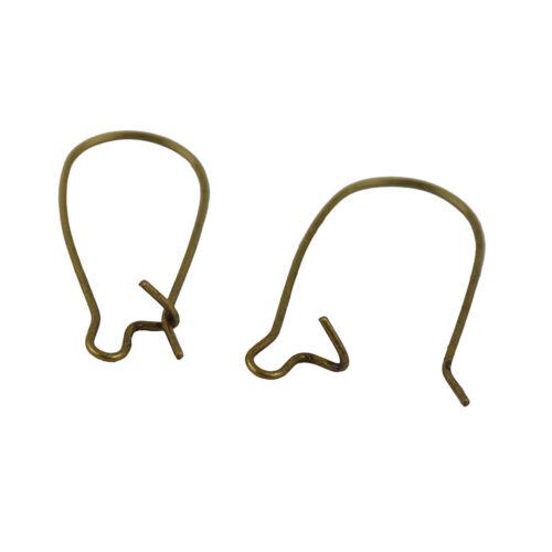 Wholesale 50pcs Kidney Ear Wire Hooks Earring Lever Back Jewelry Making