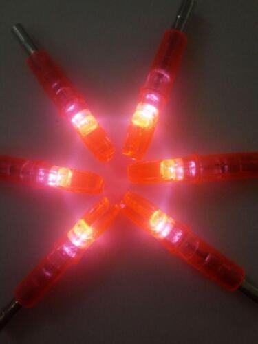 6pcs Archery Dia6.2mm LED Arrow Nock Lighting Orange for Carbon Arrow