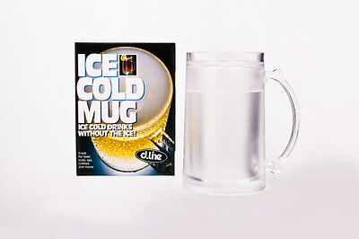 ICE COLD MUG CHILLFrosty Freezer Mug  Beverage Cooling Device Beer Pla