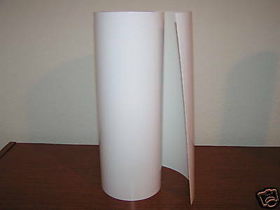 """High Gloss White Vinyl Sign Decal Sheet BY THE FOOT 12/"""" width roll"""