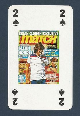 MATCH MAGAZINE-20 YEAR ANNIVERSARY COVER PLAYING CARD-TOTTENHAM-GLENN HODDLE-2S
