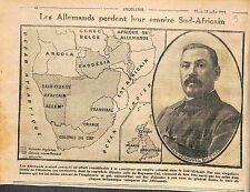 Map Carte German colonial empire Deutsches Kolonialreich South Africa WWI 1915
