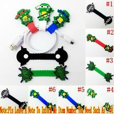 1PCS TMNT Turtles Earphone USB/Headphone Wire Cord Cable Winder Fixer Holder
