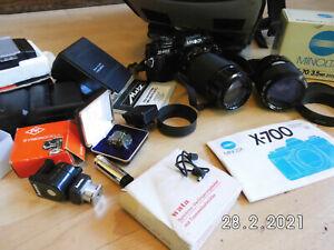 Minolta X-700 35-70mm + 80-200mm Spiegelreflexkamera +Viel Zubehör