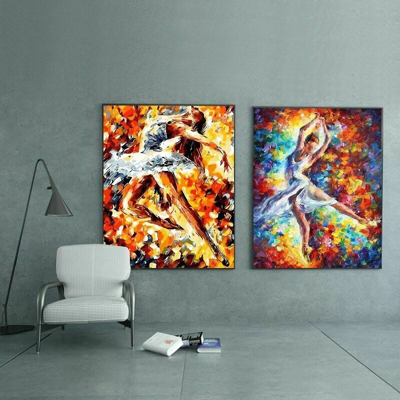 Dancing Girl Alone Acrylic Painting By Numbers Drawing On Canvas Wall Art Decors