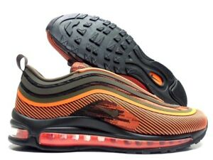 Details about NIKE AIR MAX 97 UL '17 TOTAL ORANGE OLIVE GREEN SIZE MEN'S 9 [918356 801]