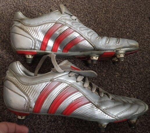 Raro Adidas Projoator Pulso Plata 2004 terreno blando Stud Fútbol botas J8