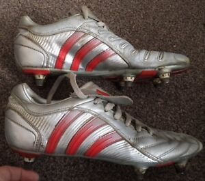 buying cheap footwear new high Details about RARE Adidas Predator Pulse Silver 2004 Soft Ground Stud  Football Boots Size 7 J8