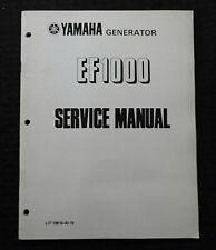 Genuine Yamaha Ef1000 Portable Generator Service Manual Very Good Shape