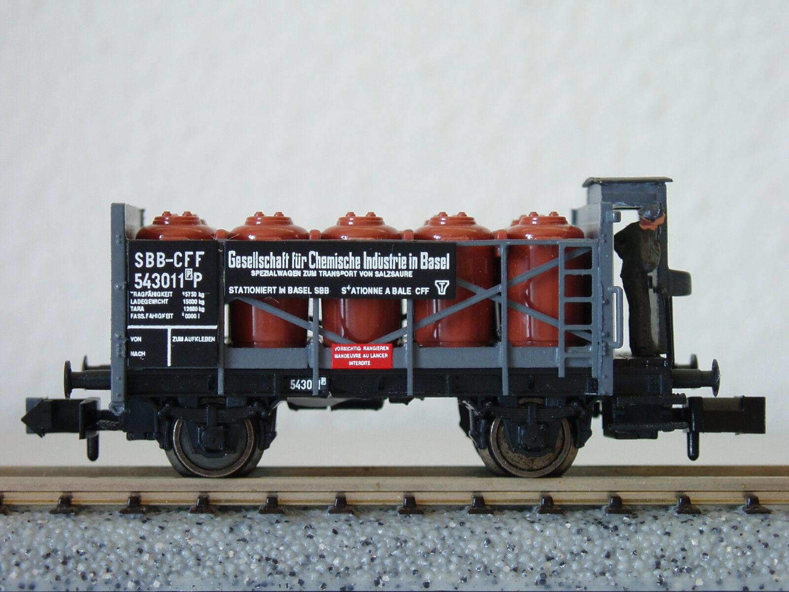 SBB Säuretopfwg  Chem. Industrie Basel  543011   2928  JURETIC Handarbeitsmodell