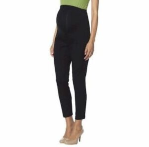 New-Women-039-s-Maternity-Clothes-Over-Belly-Ankle-Dress-Pants-Black-NWT-Size-M
