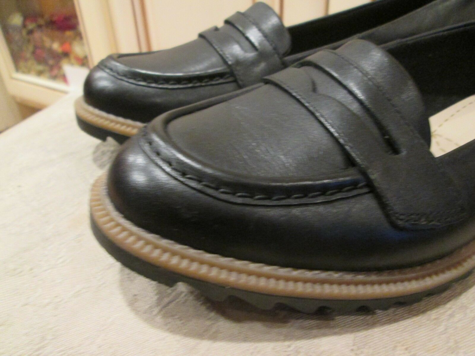 New CLARKS women' designer  GRIFFIN MILLY  BLACK oxford oxford oxford w rubber soles shoes 9.5 2e193f