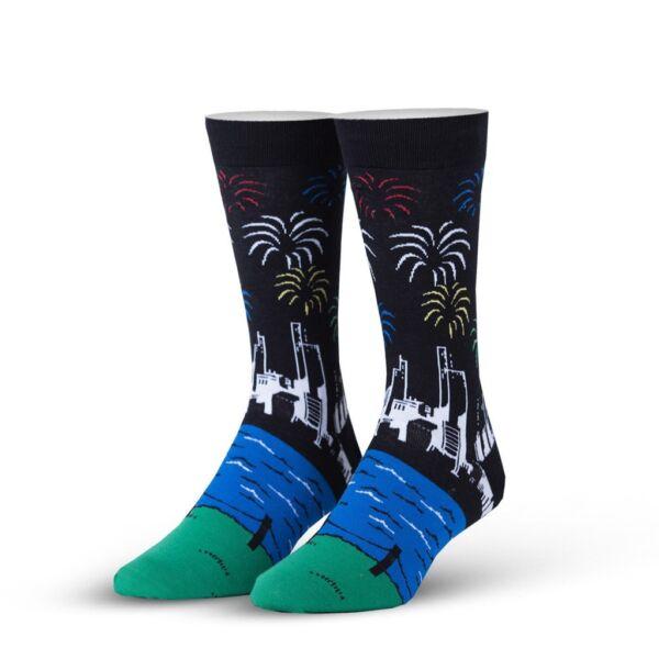 Odd Sox Unisex Crew Socks-celebrazione (regno Unito Per Adulti: 5-12)