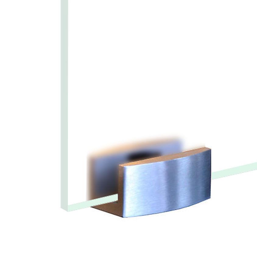 Helm Bodenf/ührung 3011 Kunststoff weiss f/ür Glasschiebet/ür mit Glasst/ärke 8mm