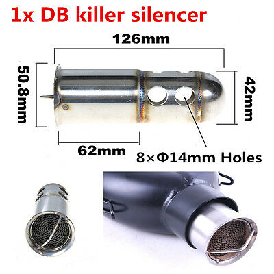 1xMotorcycle Bike Exhaust Can DB Killer Silencer Muffler Baffle For 51mm Exhaust