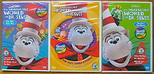 The Wubbulous World Of Dr. Seuss 3 DVDs Collection The Cat's Fun House Play Pals