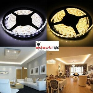 12V-White-5M-300-LED-Light-Strip-Sticky-Tape-2835-Cabinet-Kitchen-Lighting-IP20