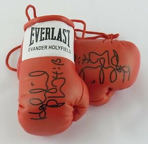 Autographed Mini Boxing Gloves Evander Holyfield