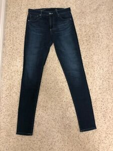 AG-Adriano-Goldschmeid-Denim-Jeans-The-Farrah-High-Rise-Skinny-Jean-size-27R