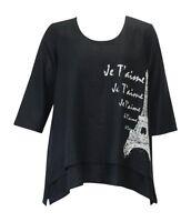 Et'lois Double Layer Paris Linen Tunic Top Size 2x