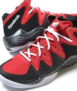 4e06345bd8e1 Reebok Men s Kamikaze IV M40834 Mid Retro Basketball Shoe Black Red ...