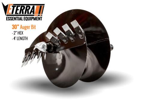 Eterra Auger Bit - 30 Auger Bit for Skid Steer Auger Attachments & Auger System