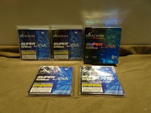 Lot of x7 IMATION LS-120 120 MB SuperDisks