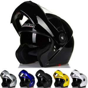 DOT-Flip-Up-Motorcycle-Helmet-Modular-Helmet-Full-Face-w-Dual-Visor-M-L-XL-XXL