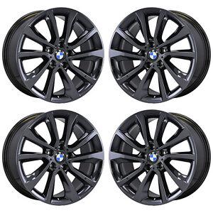 19 Quot Bmw X5 X6 Black Chrome Wheels Rims Factory Oem 2016 2017 2018 Set 86260 Ebay