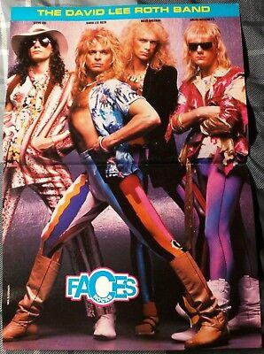 Steve Vai David Lee Roth Band Billy Sheehan 1980 S Magazine Centerfold Ebay