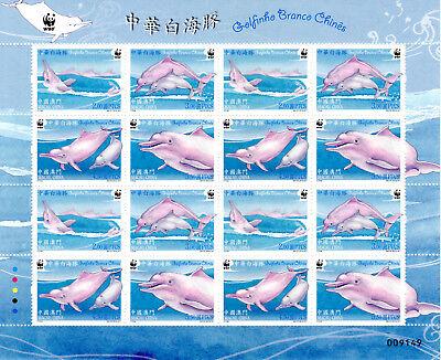 Weisser Chin.delphin Macau 01.12.2017 Postfr.,kleinbogen