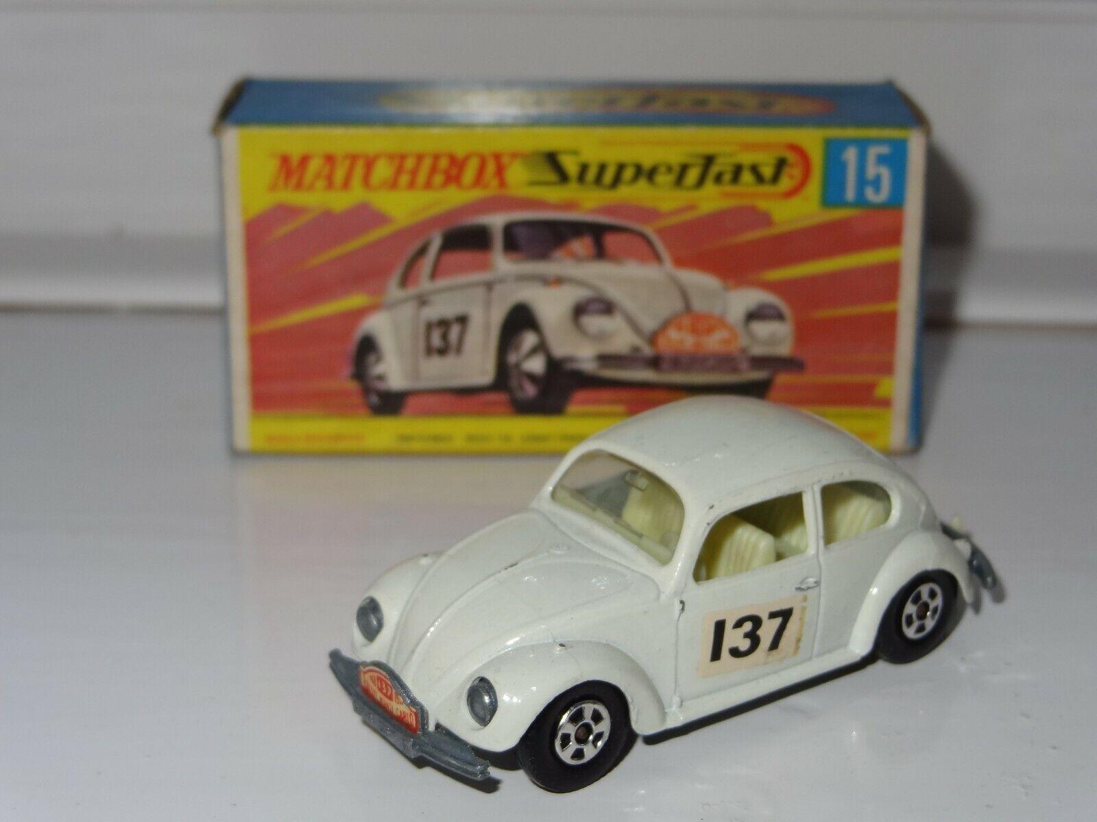 (B) MATCHBOX LESNEY SUPERFAST vw volkswagen beetle Rallye - 15