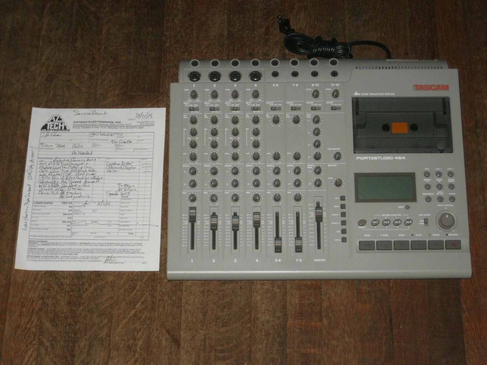 Tascam 464 Portatelier 90 Day Warranty Pro Refurb 4 Track Kassettenrecorder TEAC