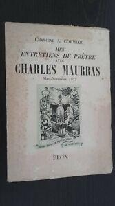 Chamoine A.Cormier Mes Dessert Di Sacerdote Con C.Maurras Plön 1953 Spilla