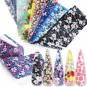 16pcs-Flower-Nail-Sticker-Foils-Holographic-Starry-Paper-Transfer-Nail-Tip