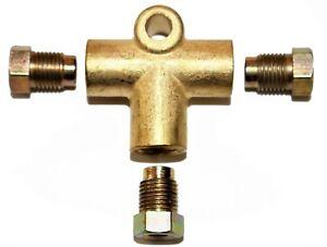 3-Way-T-Piece-Frein-Tee-avec-3-Male-Ecrous-Court-Union-Metrique-M10-Tuyau-3-16-034-10-mm