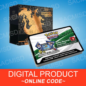 1x Pokémon Champion/'s Path Elite Trainer Box Code PTCGO online Messaged fast