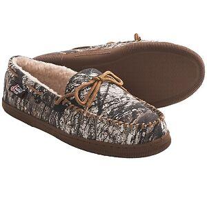 7324f9970b64b Justin Boots Mossy Oak® Camo Moccasin Slippers - Faux Fur Men's size ...