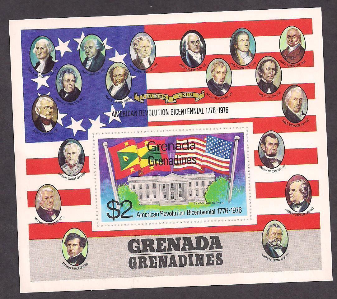 Grenada Stamp-Scott  # 99/G5- $2-Souvenir Sheet-Mint/NH-1975