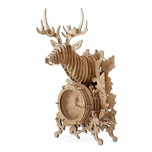 3D Clock Puzzle Model Kit Abong Laser-Cut Mechanical Wooden Pendulum Clock DIY Wooden Clock Kit