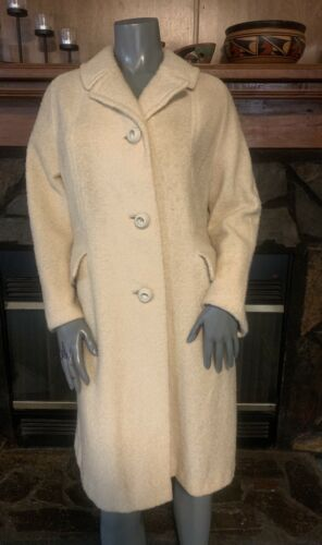Vintage 60's Yellow Boucle Winter Coat by Carillon