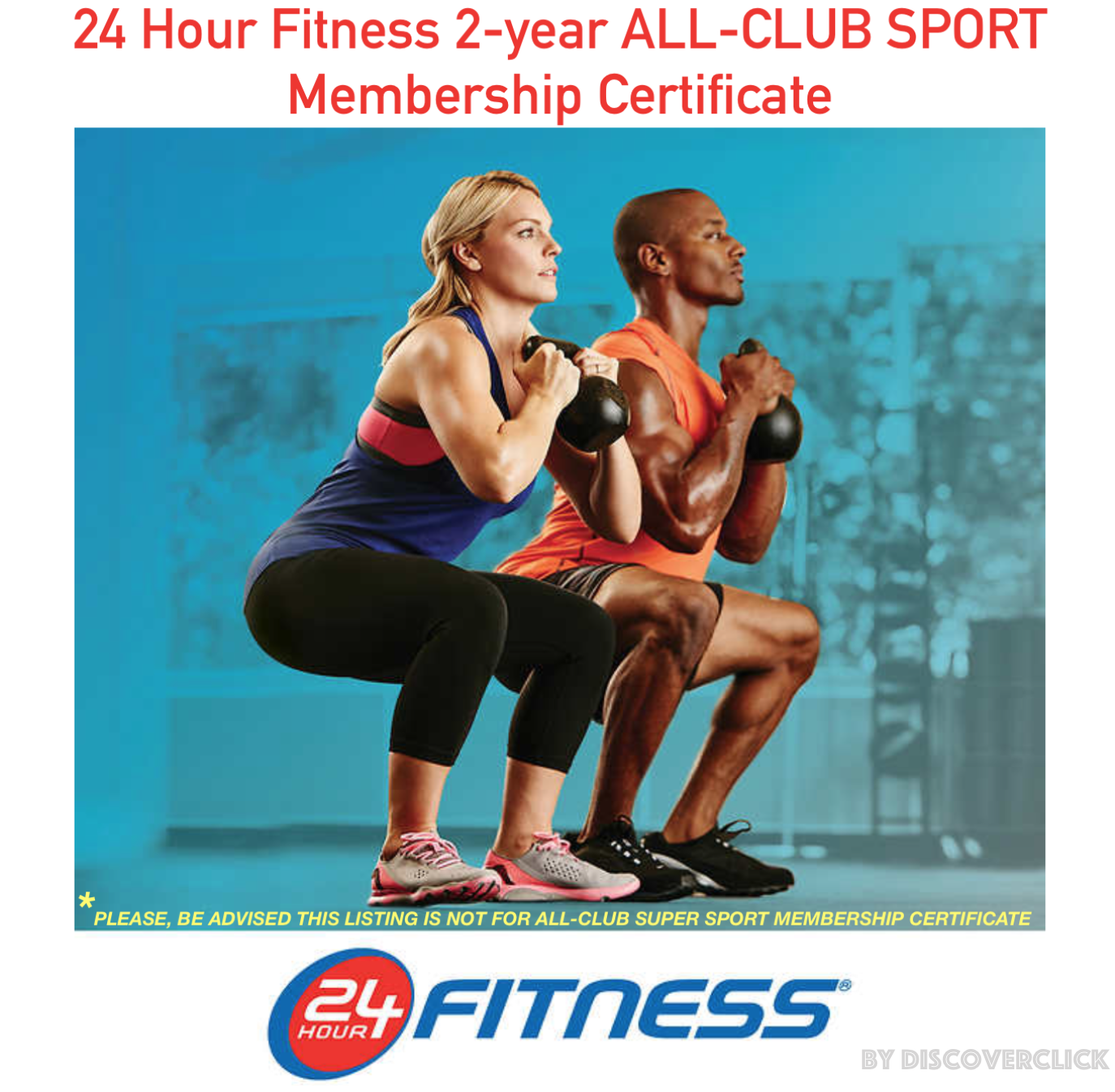 NEW 24 Hour Fitness 2-year 2-year 2-year ALL-CLUB SPORT Gym Membership 1 Certificate Print-Out cb9c66