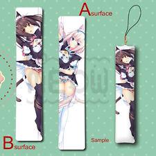 Neko Para Chocola & Vanilla Anime Mini Dakimakura Keychain Phone Strap Hanging