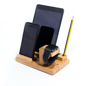 iphone desk stand 3 in 1 bamboo desk stand holder charge dock station for 11799