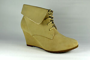 Zapatos-Mujer-Botines-Botas-Tacon-De-Cuna-Beige-Cordones-G-36-41-A-8432